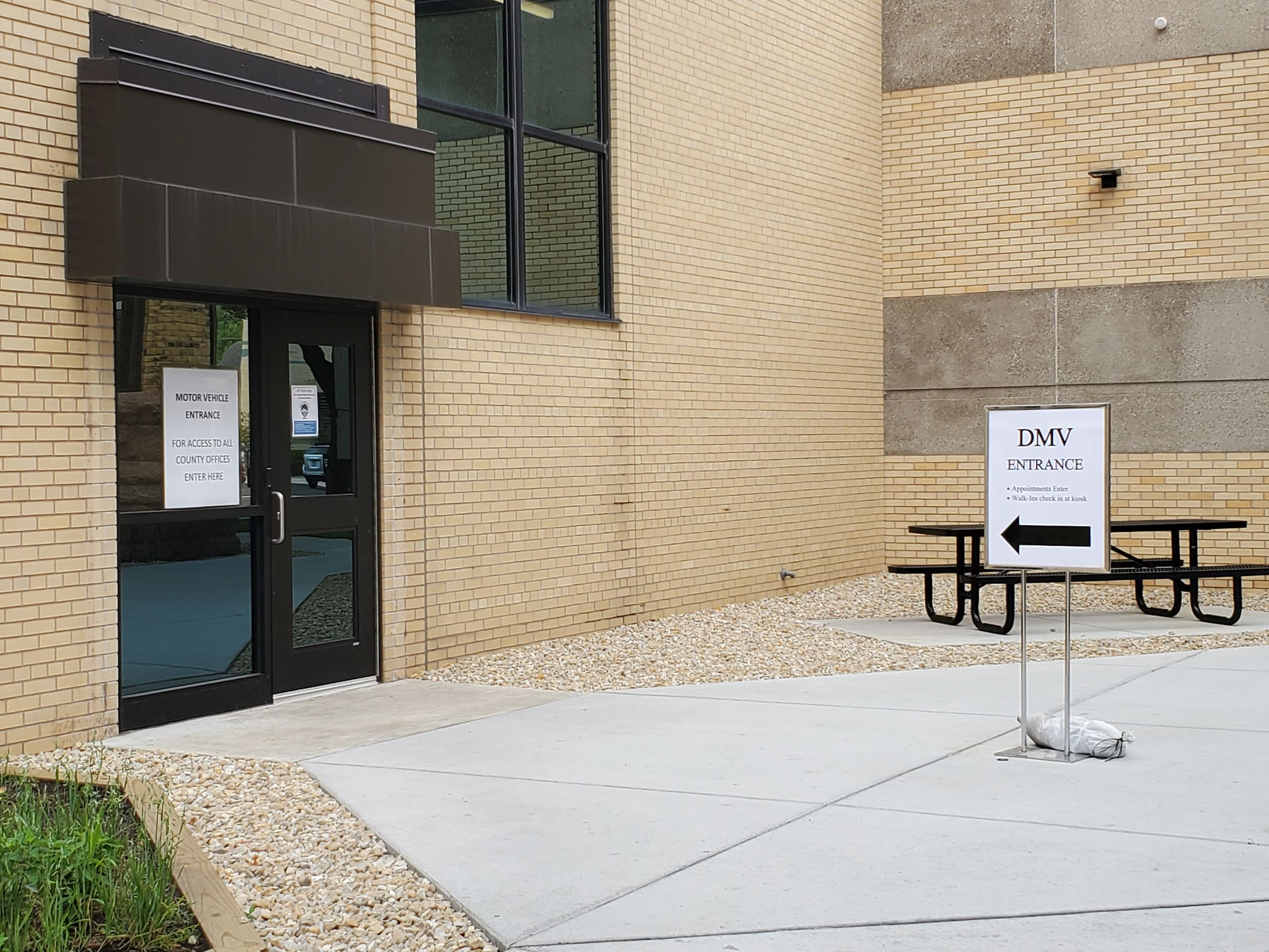 DMV Entrance Door east view