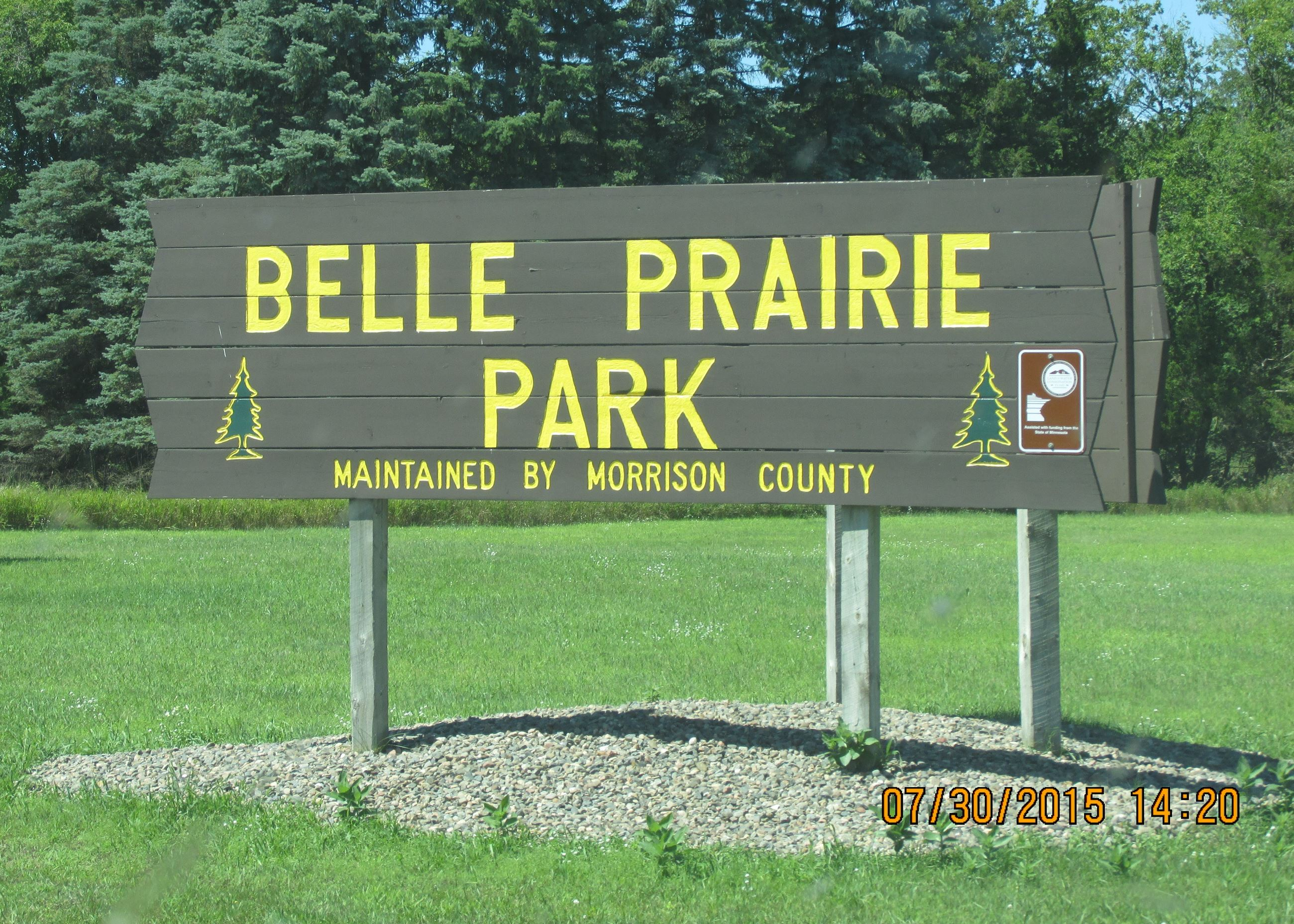 Belle Prairie Park Entrance Sign
